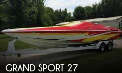 Actual Location: Afton, OK - Stock #090204 - If you are in the market for a high performance boat, look no further than this 2000 Grand Sport GS270, just reduced to $29,400.This boat is located in Afton, Oklahoma and is in great condition. She is also