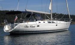 """Du Vent"" is a fantastic, large gem of a boat from the world's biggest sailboat builder. This Jeanneau 45.2 is equally comfortable at anchor or on the dock, or offshore sailing. Consider the large sail inventory (with furling Main and a classic main,"