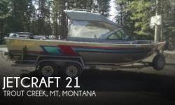 Actual Location: Trout Creek, Mt, MT - Stock #086569 - If you are in the market for a jet, look no further than this 2000 Jetcraft 21, priced right at $33,400 (offers encouraged).This boat is located in Trout Creek, Mt, Montana and is in great condition.
