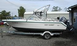 2000 Key West 2020 DL $10,900 20 Ft. Dual Console, 2000 150 HP Yamaha V6 2-Stroke SX150TXRY with excellent compression, Wake Board Tower, Lowrance Combo Unit GPS/Fishfinder, VHF Radio, Stereo CD Player,