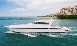 This Leopard 23M Express Yacht must be seen to be truly appreciated. No expense was spared on her complete and custom updates. Interior is flawless and has all new Makore veneers and select marble and granite. Updated stainless steel Gaggenau appliances,