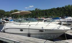 The 2000 Maxum 2700 SCR is in excellent condition, features a 7.4L MerCruiser engine with Bravo Three drive, air conditioning and 2018 summer dockage and winter storage. Nominal Length: 27' Length Overall: 28.1' Max Draft: 3.3' Engine(s): Fuel Type: