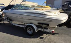 This Maxum is well maintained and worth a look. We have the service records available. Vinyls and fiberglass are in great shape. Beam: 7 ft. 11 in. Fuel tank capacity: 35 Hull color: Cream Optional features: Full Cover Depth fish finder; Boat cover;
