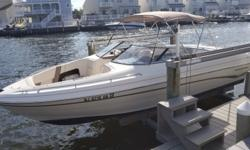 Engine replaced May 2017 19 hours. 22* Deadrise-3850 lbs.-65 Gallons Fuel. This boat is in great shape and ready for test ride. Engine(s): Fuel Type: Gas Engine Type: Stern Drive - I/O Quantity: 1 Beam: 8 ft. 6 in.