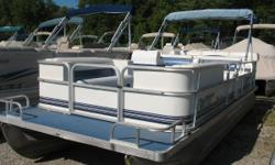 Johnson 50 hp 2 stroke Budget boat in decent condition. Comes with swim ladder, am fm, power trim, bimini and a mooring cover. Nominal Length: 21' Length Overall: 21' Beam: 8 ft. 6 in.