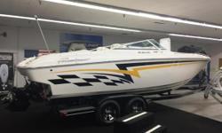 Just reduced $1,000. Equipped with a 2018 Trailmastertandem axle trailer, brakes, full travel cover, silent choice exhaust, new drive last year,s.s. prop, and more! 583 engine hours.  Nominal Length: 26' Length Overall: 26' Max Draft: