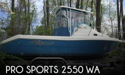 Actual Location: Dagsboro, DE - Stock #107018 - If you are in the market for a walkaround boat, look no further than this 2000 Pro Sports 2550 WA, priced right at $19,500.This boat is located in Dagsboro, Delaware and is in good condition. She is also