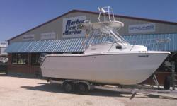 This Pro Sports 2200 WA ProKat sports a generous V-berth and a full complement of fishing features. The twin hull runs great and rides smoothly in almost any situation. A pair of Yamaha 150 engines provides the best and most reliable power available. It