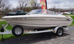 2000 REGAL 176SE 2000 Regal 17' BOW RIDER, Model 176 SE, Mercruiser 135hp Engine, 2000 17' Eagle Trailer Included, Full Cover Model 176 SE, Mercruiser 135hp Engine, 2000 17' Eagle Trailer Included, Full Cover Hull color: White/Tan Stock number: USED83