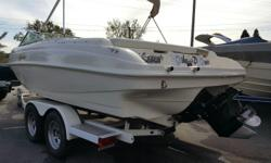 This is a fresh water boat that has been well maintained. Vinyl's, fiberglass and mechanicals have all been taken care of and is ready for the water. We have the maintenance records for you to review. 212 Rinker has a great hull reputation especially for