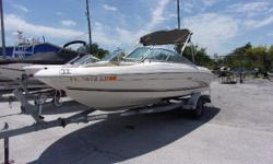 THIS PACKAGE INCLUDES A 2000 SEA RAY 185 WITH A MERCRUISER 4.3L INBOARD/OUTBOARD ENGINE AND A TRAILER. THE OPTIONS INCLUDE A BIMNI TOP, AM/FM STEREO, REAR BOARDING LADDER AND A SWING AWAY TRAILER TONGUE. - 2000 SEA RAY 185 Nominal Length: 18' Length