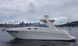 """""""Jules"""" is a gorgeous, turn-key Sea Ray 290. Kept in covered moorage on Lake Union (Slip can be taken over), she had new engines installed in April 2015 that now have 200 hours. Boat has been kept waxed and cleaned, and shows very well, with many upgrades"""