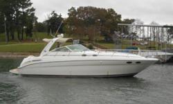 2000 Sea Ray 380 Sundancer This is a clean Freshwater Trade that has a Freshly Rebuilt port engine and fully service and tuned up and ready to cruise on both engines. It is equipped with Sea Dek on Swim Platform; Snap In Cockpit Carpet; Bimini Top with