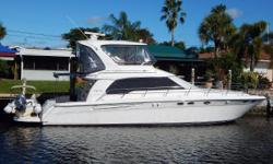 The 480 Sedan Bridge was designed for luxurious and comfortable cruising, and has a 3 stateroom layout. Fish Tales is pilot-owned, well maintained, and is equipped with all the options and many thoughtful enhancements. She has a sportsman