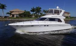 Ready to Cruise, the very popular 480 Sea Ray Sedan Bridge. Price reduction! Over $40k of upgrades and improvements in the past several years. This boat is very clean and in top condition!Set up for cruising! 640 HP Caterpillar Diesel engines with