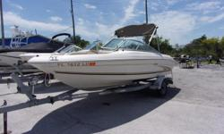 THIS PACKAGE INCLUDES A 2000 SEA RAY 185 WITH A MERCRUISER 4.3L INBOARD/OUTBOARD ENGINE AND A TRAILER. THE OPTIONS INCLUDE A BIMNI TOP, AM/FM STEREO, REAR BOARDING LADDER AND A SWING AWAY TRAILER TONGUE. - 2000 SEA RAY 185 Engine(s): Fuel Type: Other