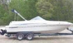 2000 Sea Ray Boats Sundeck Series 210 5.0 L Engine. Showroom condition! Lockable Head. White exterior White interior 21ft long 220hp 146 engine hours 60 gallon fuel capacity Includes Custom Built Trailer. Located in Crosslake MT Financing Nationwide