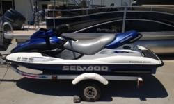 trailer included - very well maintained, low hours Beam: 4 ft. 0 in. Hull color: blue
