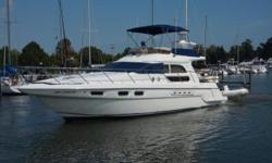 This Sealine F44 is superbly designed to offer superb performance. This is a high quality cruising yacht combining today's engineering excellence and performance with traditional craftsmanship and build quality. The boat has been very well maintained and