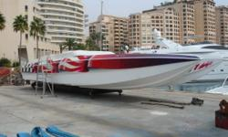200046' SKATERQUAD BUILT IN 1997 COMMISIONED IN 2000 carbon/kevlarcatamaran 4x800ps SC mercruisers with speedmaster 6 drives 145 hours, 120+mph, cabin with queen size bed, bathroom, 8seats cockpit
