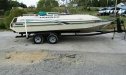 This one is very nice! Comes with the 3.0L MerCruiser and tandem trailer. - Sun Tracker Party Deck 21 Nominal Length: 21' Engine(s): Fuel Type: Other Engine Type: Stern Drive - I/O