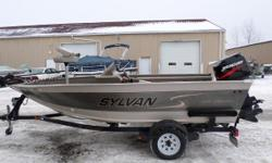 2000 Sylvan 1600 Expedition 3 Seats Side Console Minn Kota Trolling Motor Lowrance X50DS Sylvan Trailer Mercury 75HP Nominal Length: 16' Engine(s): Fuel Type: Other Engine Type: Outboard