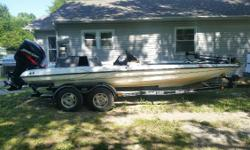 2000 Triton TR21 PDC -2000 Mercury 225hp EFI -Lowrance HDS-8 Gen 2 w/Structure Scan on the console -Lowrance HDI -7 GPS w/Down Imaging on the front -Minn Kota Maxim Pro 80lb w/lift assist -Hot Foot and Recessed Foot Pedal for trolling motor -Custom Cover