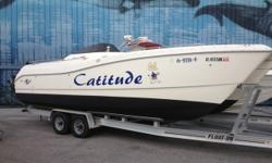 2000 World Cat Leisure Cat 266 Powered by Twin Mercury Optimax150 HP Engines. This is the king of all Deck Boats! Nicely appointed with Fresh Bottom Paint, Porti Potty, Fresh Water Sink, Huge U-Shaped Aft Seating Area, Large Captain's Seat, Fresh Water