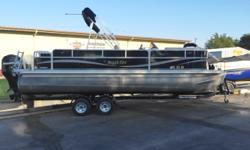 Mercury 115hp 4s, Rolco Trailer, rear fish station, pop up changing room, rear boarding ladder, table, suntop. playpen cover. One owner! Contact (NE) Travis - travis@wacondaboats.com -308-799-5000 Hull color: Black Boat cover; Bimini top;