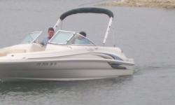 """Kept on a lift...no bottom job required! Category: Powerboats Water Capacity:  Type: Waterski Boat Holding Tank Details:  Manufacturer: Sea Ray Holding Tank Size:  Model: Sundeck 190 Passengers: 0 Year: 2001 Sleeps: 0 Length/LOA: 19' 0"""" Hull Designer:"""