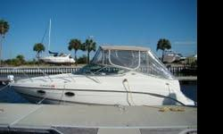 From the moment you step aboard, the spacious cockpit speaks of entertaining. The large beam opens up a rear seating area with wet bar to entertain your friends and family. This girl is loaded with options. A/C, full galley, rear stateroom, anchor