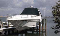 *Brokerage Vessel: In this 340 Sundancer, HIGH PERFORMANCE, COMFORT and QUALITY are beautifully combined in one sleek cruising package!! She is powered by TWIN MERCRUISER 7.4L MPI BRAVO III'S!!! This 340 Sundancer is the ticket that will let you discover