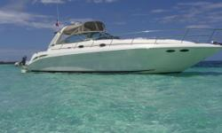 Vessel Walkthrough The conventional forward stateroom/convertible mid-cabin layout sleeps six with use of a convertible settee in the salon. There is also a full service galley two private head compartments with showers and optional interior high-gloss