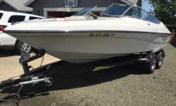 2001 Milan 210 White exterior White interior 22ft long 10 engine hours Bought new in great condition. Has a 5.0 V8 With less than 10 Hr on it. This new motor has been balanced and blueprinted. Has a tandem trailer that has new brakes lines and all other
