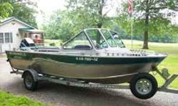 2001 Alumaweld Intruder. The Alumaweld 20 ft Intruder is designed for serious fishing. This package is loaded with power, comfort and welcome space. An 82inch Wide Ride bottom opens this boat up perfectly for big water fishing and the Advanced Ride System