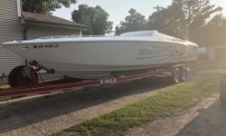 2001 Baja Outlaw 33 480 O.G. 30 with Brand New Heads 33 baja outlaw for sale Twin 500efi the blue engines Approx. 480 hrs 30 hrs on brand new aluminum heads Professionally done at valley Motorsport Boat is in excellent condition. Needs nothing. White