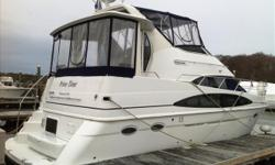 """UPGRADED VOLVO PENTA TAMD63P 370HP DIESELS! SPOTLESS 396 CARVER POWERED THE """"RIGHT"""" WAY! Loaded with every available option from Carver and professionally maintained. Approx 680 engine hours. Brokerage Stock #18782 NOTE: All Brokerage boats are sold"""