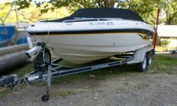 This boat has a 5.0 liter Mercruiser sterndrive which will provide plenty of power for pulling tubes and skier's. There is a large sundeck area to enjoy sunny afternoons. The large ski locker will accommodate your toys. There is an anchor locker in the