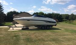 Only 199 hours, this boat was cared for by a meticulous owner. Extremely clean and always professionally maintained. Boat is ready to go. Test Rides available. Trades considered. CANVAS CAMPER CANVAS COCKPIT COVER (BLUE) DECK ALL EQUIPMENT COMES WITH BOAT
