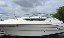 Excellent condition inside and out, used in freshwater only. Sleeps 4 adults. Dual battery charger, range, microwave, refrigerator, head with sink and marine toilet, water heater, AM-FM/CD player, depth gauge, trim tabs, and remote control spotlight, AC