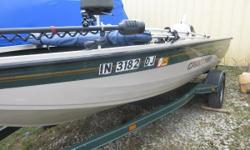 Price includes a 1996 Johnson 100hp two stroke, Tennessee Trailer, Minnkota Terrova I Pilottrolling motor, Humminbird 898 Combo with GPS and Side Imaging, Humminbird 858C in the stern, bimini top and batteries. Sale Price.