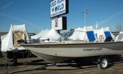 2001 Crestliner Sport Fish 1850 & 115HP Johnson Outboard. This fully welded aluminum hull features a walk through windshield, convertible front deck that changes from casting deck to a cushioned seating area, and 4 pedestal seats which can be from the