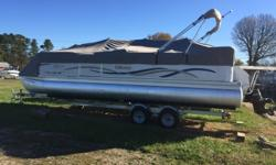 2001 Forest River Pontoon Odyssey Lextra AWESOME BOAT 350 MPI I/O ! 50MPH ++++ RUNS FAST! BRAND NEW FULL COVER, NEW BIMINI TOP, BBQ GRILL BRAND NEW, SOUND SYSTEM Stock number: B5662