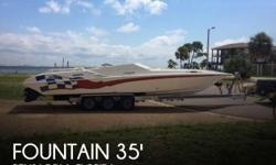 Actual Location: Pensacola, FL - Stock #061782 - If you are in the market for a high performance, look no further than this 2001 Fountain 35 Executioner, just reduced to $68,200 (offers encouraged).This vessel is located in Pensacola, Florida and is in