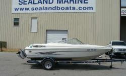 2001 Glastron 175 SX bowrider with a Volvo 3.0 (135 HP) motor sitting on a single axle trailer. This boat is in great condition and includes a sport interior, full instrumentation, digital depth sounder, and a custom cover. Great starter boat or for the