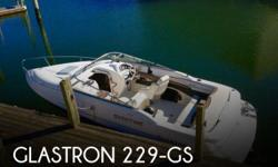 Actual Location: Norfolk, VA - Stock #073342 - Shaken, Not StirredLots of tender loving care has gone into this beautiful boat in preparation for You to Enjoy! This Glastron GS 229 was carefully designed to provide a spacious cockpit with generous