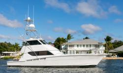 LORI ANN is a turn key ready 2001 60 Hatteras Enclosed bridge. LORI ANN is a very clean and a very well maintained boat throughout. She features a 3 stateroom / 3 head layout with the preffered full berth stateroom in the bow. She is powered with CAT 3412