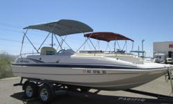 2001 Hurricane 20ft 5.0 LTR MerCruiser in great condition. Buy with confidence at Cowboys RV Marine?every boat comes with a full marine service by our A+ BBB rated marine service department! Come check it out today! Hull color: White/Blue Stock number: