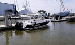 Just reduced for quick sale is a super clean Intrepid 348 Walkaround Cuddy with Twin 2006 Mercury 250 HP Verado Fourstrokes with only 515 hours fully serviced at 500 hours. Air Conditioning and a 5KW Kohler Generator with only 250 hours.