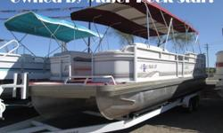 This big name JC MFG Tritoon isn?t just any Tritoon?it was owned by the original river ratt? Can you guess who went ROUND AND ROUND Lake Havasu in this beautiful boat? It?s powered by a powerful 5.7ltr EFI Mercruiser 260HP engine which is sure to get you